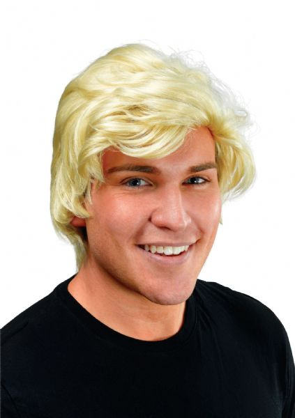 Adults Mans Blonde Trump Side Parting Wig President USA Fancy Dress